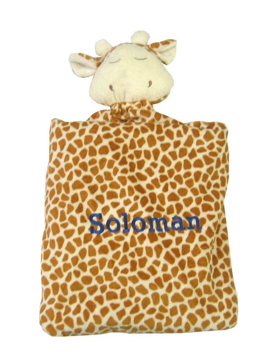 Angel Dear Personalized Security Blanket - Brown Giraffe
