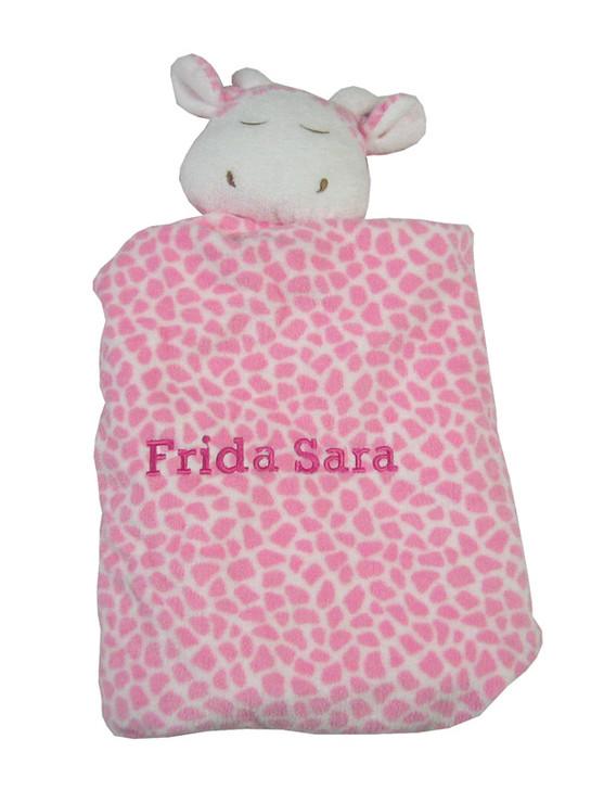 Angel Dear Personalized Security Blanket   Pink Giraffe