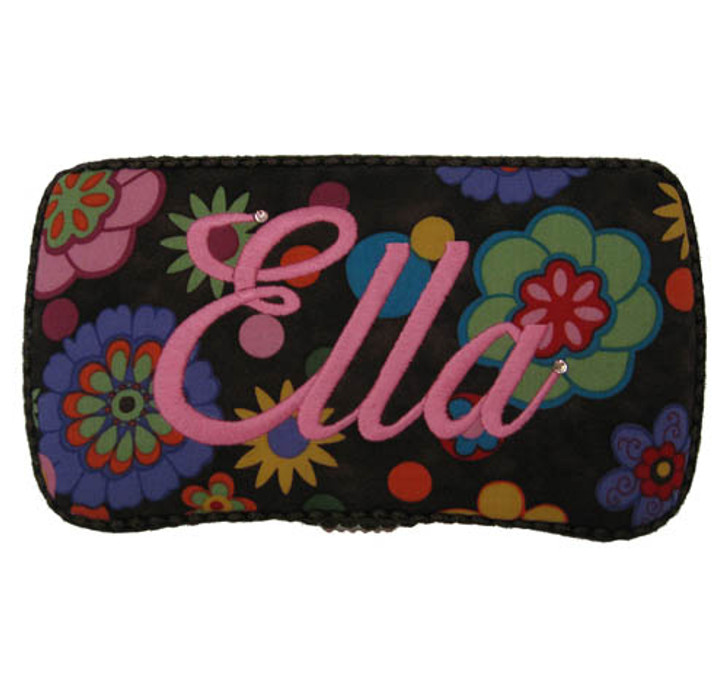 Personalized Travel Baby Wipe Case - Funky Circles