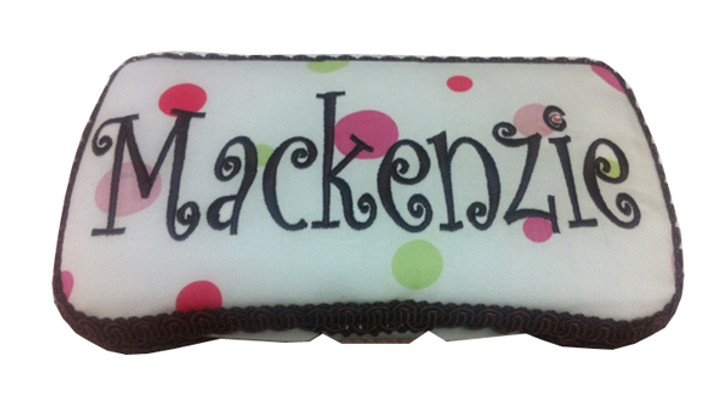 Baby Wipe Case   Personalized Pastel Dots