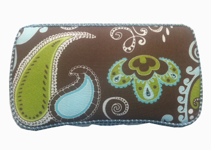 Personalized Baby Wipe Case   Aqua Lime Paisley