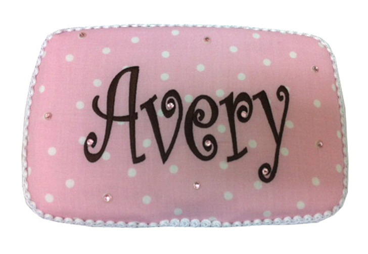 Baby Wipe Case | Personalized Pink & White Dots