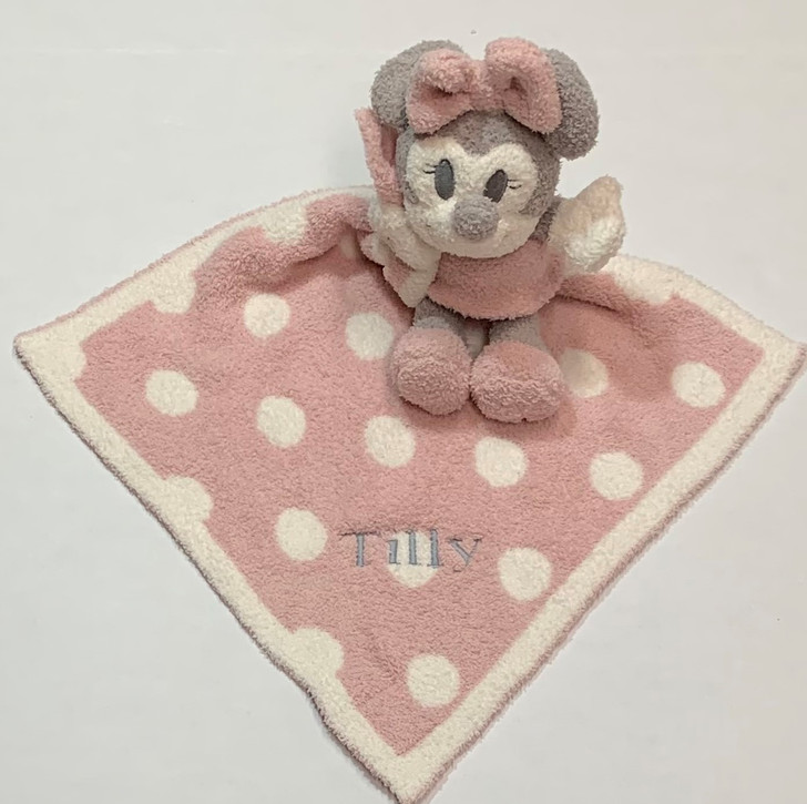 Barefoot Dreams Personalized Vintage Minnie Mouse - Pink Security Blanket Buddy