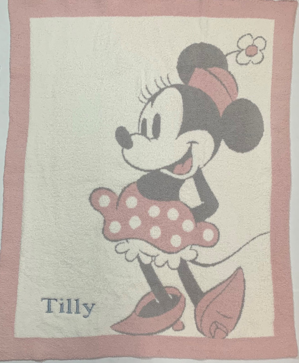 Barefoot Dreams Personalized Baby Blanket - Vintage Minnie