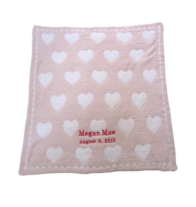 Barefoot Dreams Personalized Receiving Blanket - Hearts