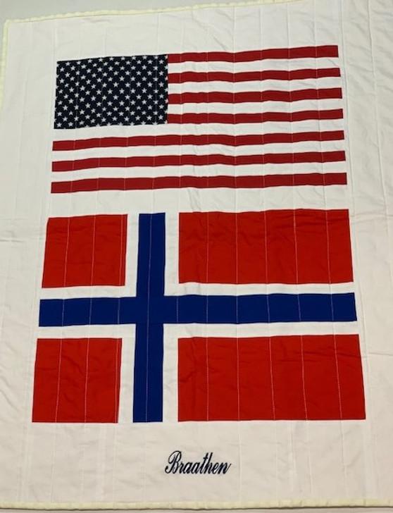 Custom Baby Quilt   Flag Baby Quilt