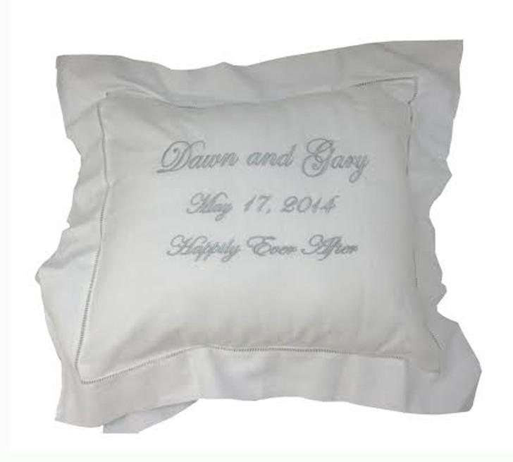 Personalized White Pillow Sham