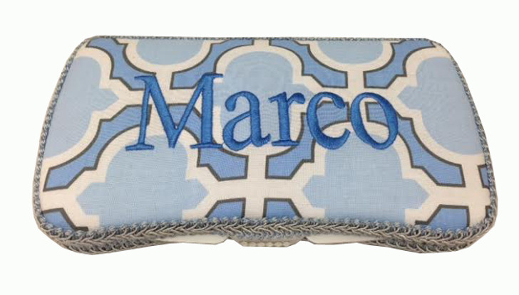 Blue Cloud personalized baby wipe case