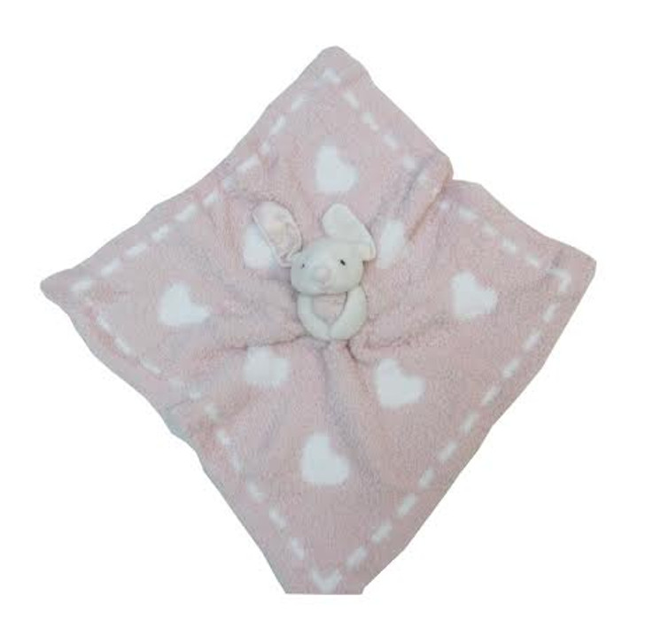 Barefoot Dream Cozy Chic Dream  Buddy - Pink Heart Security Blanket
