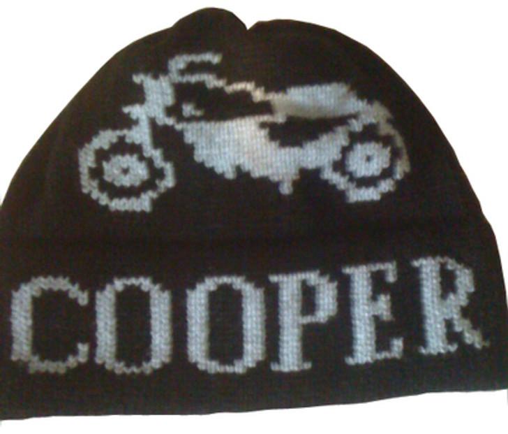 Vintage motorcycle kids hat