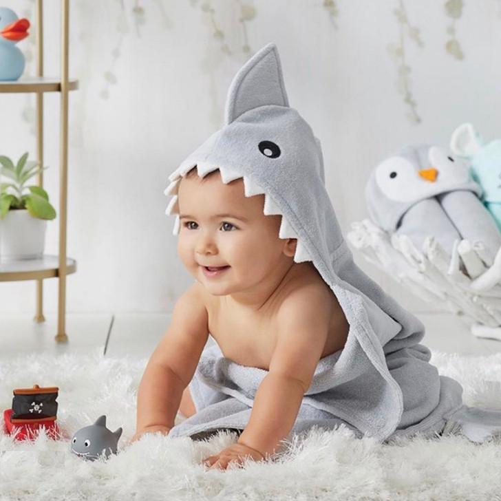 Baby Towel - Shark Smiles