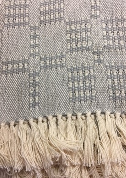 Fringed baby blanket in gray