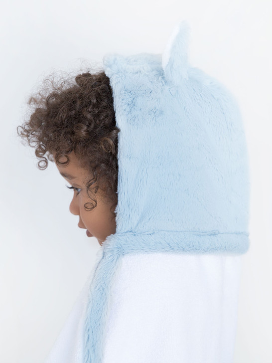 Little Giraffe Luxe Blue Hooded Towel