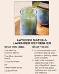 Layered Matcha Lavender Refresher