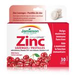 Jamieson Zinc Lozenges with Echinacea, Vitamins C & D - Wild Cherry 30 Lozenges | 064642049629