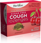 Herbion All Natural Sugar Free Cough Lozenges Cherry 18 Lozenges | 4607006675612