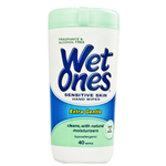 Wet Ones Sensitive Skin Hand and Face Wipes 40 pack | 0068875023081