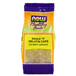 Now Foods Empty Gelatin Size 0 Capsules   733739051561