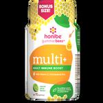 Honibe Honey Gummies Multi+ Adult Immune Boost with with vitamin C, Echinacea & Zinc 70 Gummies | 663448001505