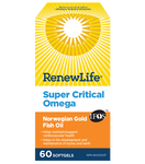 Renew Life Super Critical Omega Norwegian Gold Fish Oil 60 Softgels | 631257154071