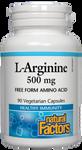 Natural Factors L-Arginine 500mg Vegetarian Capsules | 068958028217