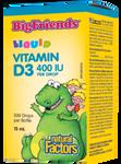 Natural Factors Big Friends Liquid Vitamin D3 400 IU per Drop | 068958015453