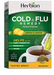 Herbion All Natural Cold and Flu Remedy 10 Sachets Lemon Flavor | 4607006674813