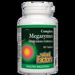 Natural Factors Complete Megazymes Vegetarian Formula Tablets | 068958017006