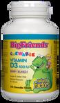 Natural Factors Big Friends Chewable Vitamin D3 400IU Berry Bunch 250 Chewable Tablets   068958015460