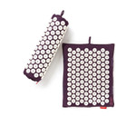 Spoonk Organic Hemp Travel Acupressure Mat Plum Purple | 842117000357