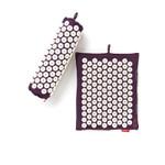Spoonk Organic Hemp Travel Acupressure Mat Plum Purple   842117000180