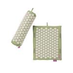 Spoonk Organic Hemp Travel Acupressure Mat Lilac Green   842117000180