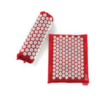 Spoonk Organic Hemp Travel Acupressure Mat Cherry Red  | 842117000418