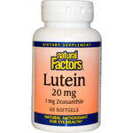 Natural Factors Lutein 20mg 60 Softgels | 068958010328