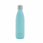 S'well Bottle Satin Insulated Stainless Steel Water Bottle Turquoise Blue | 814666021237