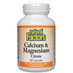 Natural Factors Calcium and Magnesium Citrate Plus Potassium, Zinc and Manganese Capsules   068958016030