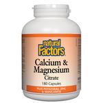 Natural Factors Calcium and Magnesium Citrate Plus Potassium, Zinc and Manganese Capsules | 068958016047