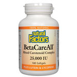 Natural Factors BetaCareAll 25,000 IU | 068958010151