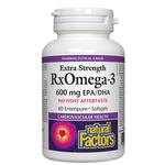 Natural Factors RxOmega-3 Extra Strength 600mg 60 Enteripure Softgels | 068958035482