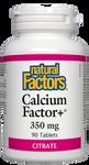 Natural Factors Calcium Factor+ Citrate 350mg 90 Tablets