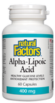 Natural Factors Alpha-Lipoic Acid 400mg 60 Capsules | 068958021010