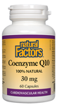 Natural Factors Coenzyme Q10 30mg Capsules | 068958020761