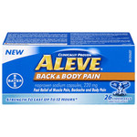 Aleve Back and Body Pain 220mg Capsules 26 capsules | 056500366016