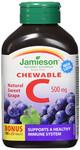 Jamieson Vitamin C Chew 500mg Grape Bonus | 064642052018