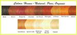 Colora Henna Powder Natural Organic Haircolor | Colour Reference Chart