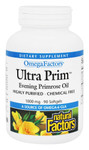 Natural Factors Ultra Prim Evening Primrose Oil 1000mg OmegaFactors 90 Softgels | 068958023465