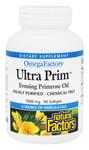 Natural Factors OmegaFactors Ultra Prim Evening Primrose Oil 1000mg 90 Softgels   068958023465