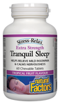 Natural Factors Stress-Relax Tranquil Sleep Extra Strength - Tropical Fruit Flavour 60 Chews   068958028491