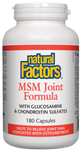 Natural Factors MSM Joint Formula Capsules | 068958026961