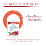 Boiron Roxalia Sore Throat and Hoarseness  60 tablets | Features